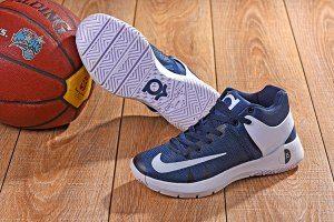 44c3521027cf Men s Nike KD 5 Trey IV EP Midnight Navy Blue White boys Basketball Shoes