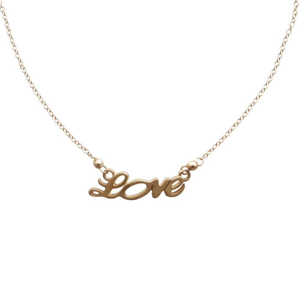 Enamora con este dije de oro con la palabra #Love