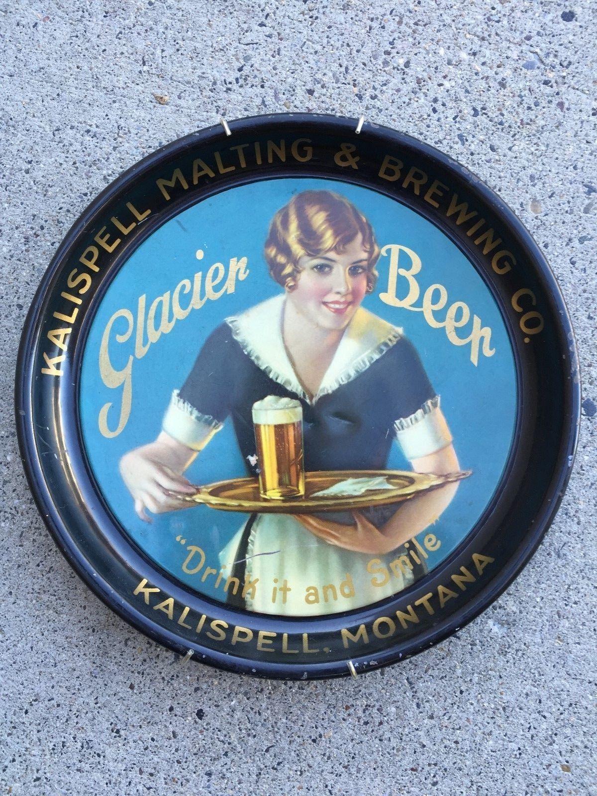 Glacier Beer Kalispell, Montana Vintage beer labels