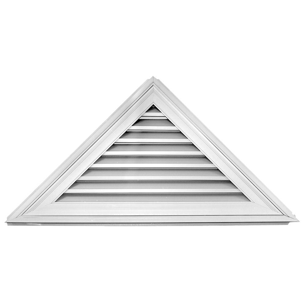 12 12 52 In X 26 In Triangle Gable Vent 001 White Gable Vents Builders Edge Exterior Vinyl Shutters