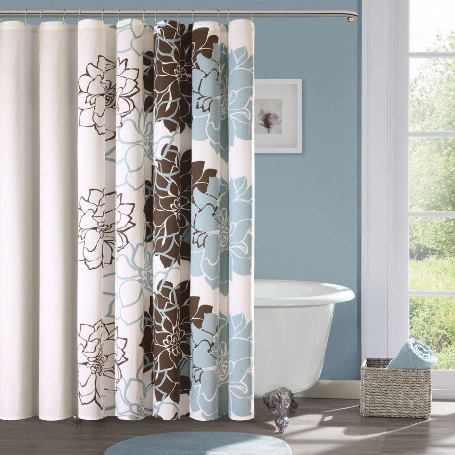 Bathroom Elegant Modern Bathroom Shower Curtain Designs Light