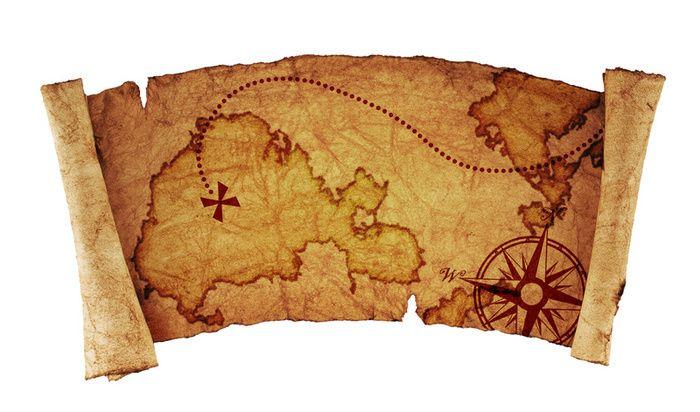 Pirate Treasure Map Scroll
