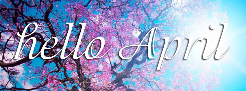 Hello April Spring Tree Facebook Cover Easter Cover Photo