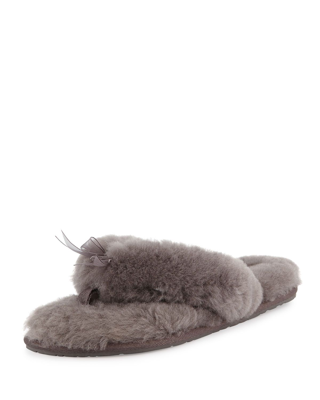 1212ab2351d Fluff Fur Flip Flop Slipper Gray | Slippers | Slippers, Flip flop ...