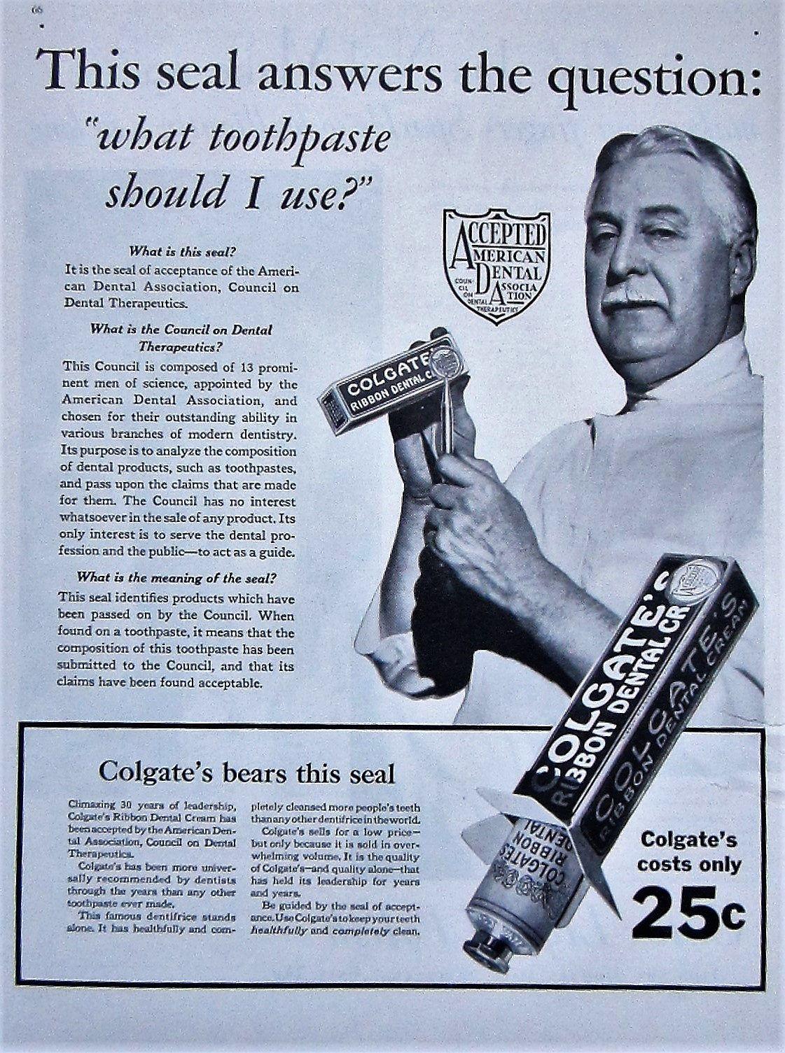 1931 colgate toothpaste vintage advertisement bathroom