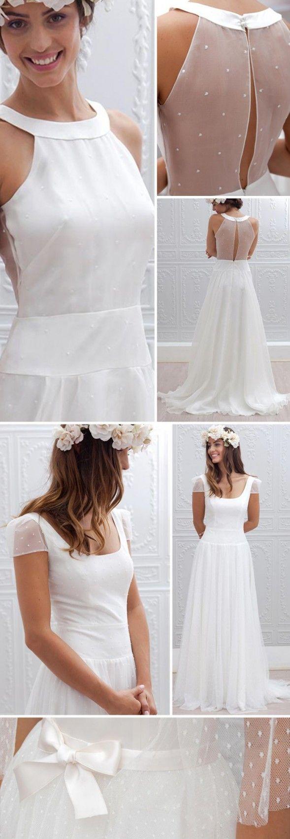 De haut en bas : détails robe de mariée 2015 \