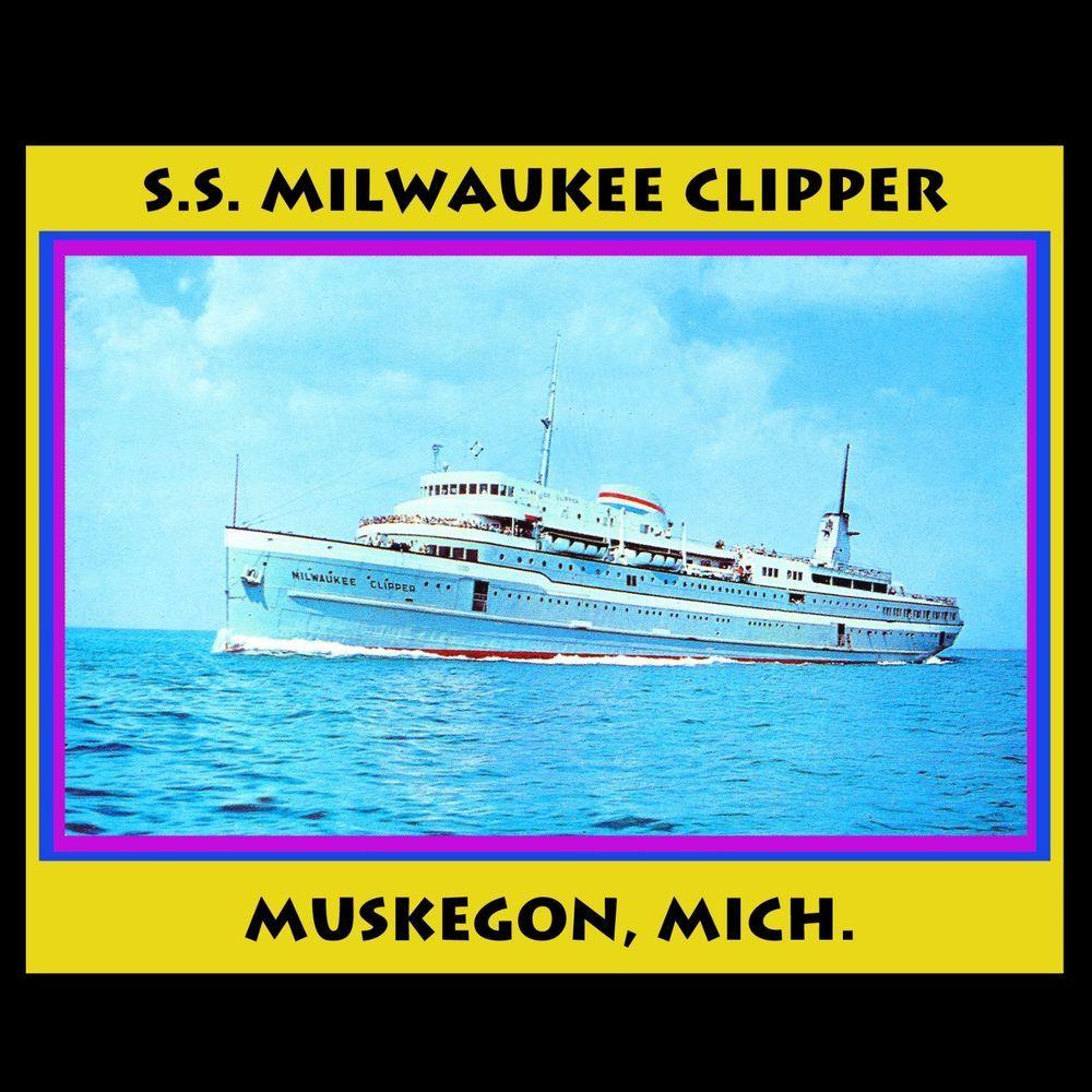 Ss milwaukee clipper cruise ship lake michigan muskegon ceramic tile ss milwaukee clipper cruise ship lake michigan muskegon ceramic tile souvenier dailygadgetfo Gallery