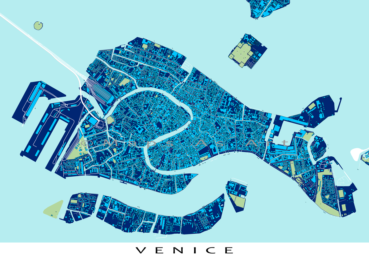Items Similar To Venice Italy Venice Map Venezia Travel Maps Blueprint Art On Etsy Venice Map Venice Map Art Blueprint Art