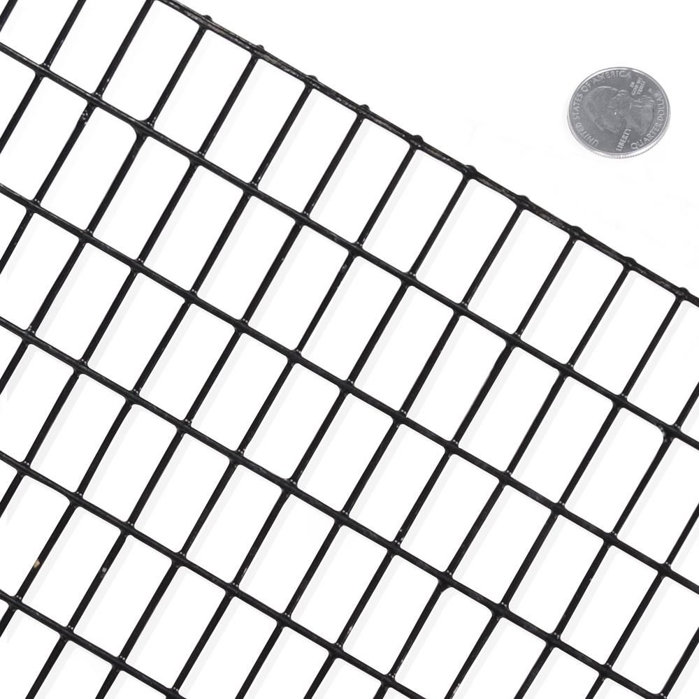 Fencer Wire 2 Ft X 100 Ft 16 Gauge Black Pvc Coated Welded Wire Mesh Size 0 5 In X 1 In In 2020 Fencer Wire Welded Wire Fence Wire Mesh