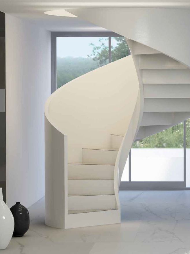 Helical cement Spiral #staircase CONCRETE LINE by Executive #interior #design