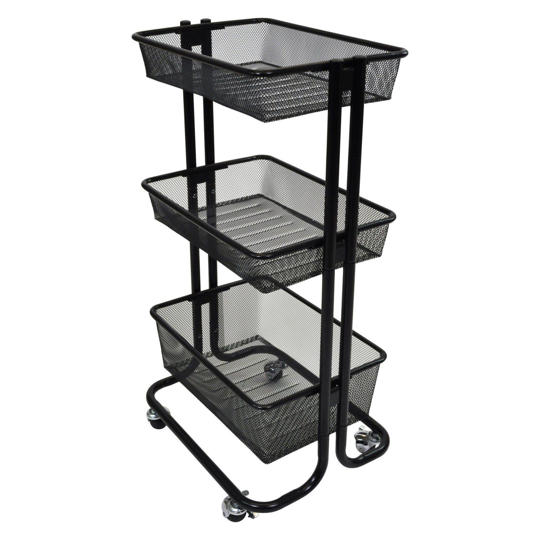 Luxor Kitchen Utility Cart - KUC-BK | Kitchen utility cart, Kitchen ...
