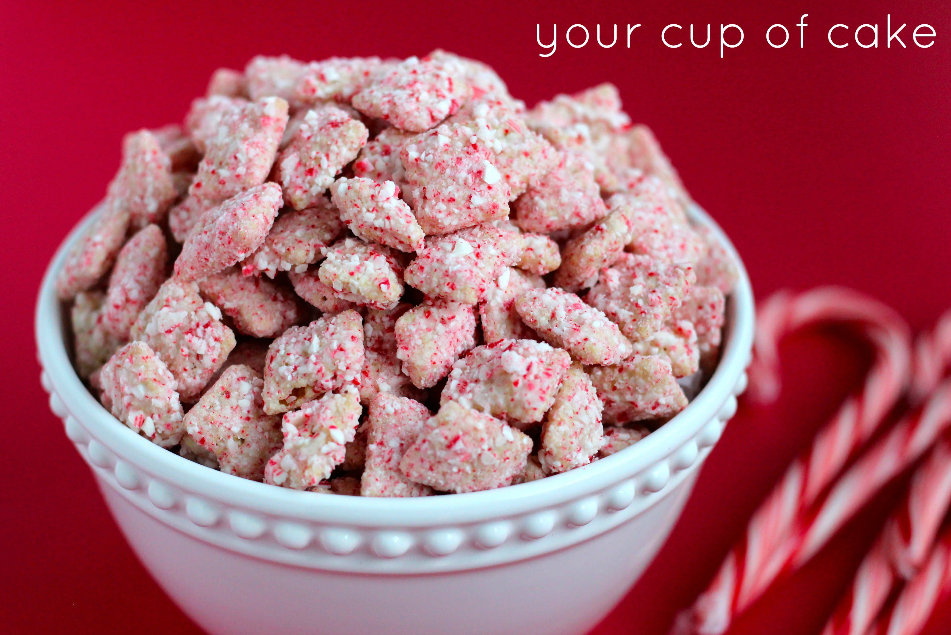 Peppermint Bark Puppy Chow. Make sure you use chocolate