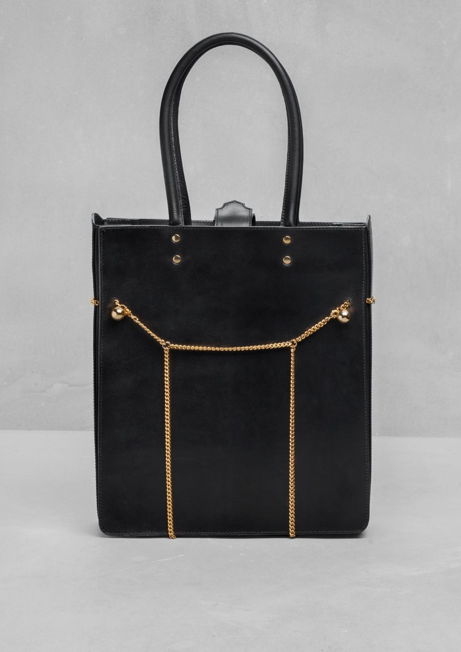 Embellished leather tote | Embellished leather tote | & Other Stories