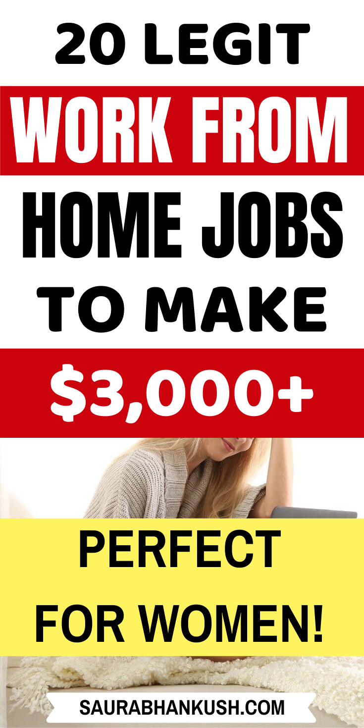 20 Legitimate Work From Home Jobs To Make Extra 3 000 Month Work From Home Jobs Legit Work From Home Legitimate Work From Home