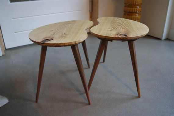 Kidney bean shaped coffee table set of 2 Kidney beans Beans and