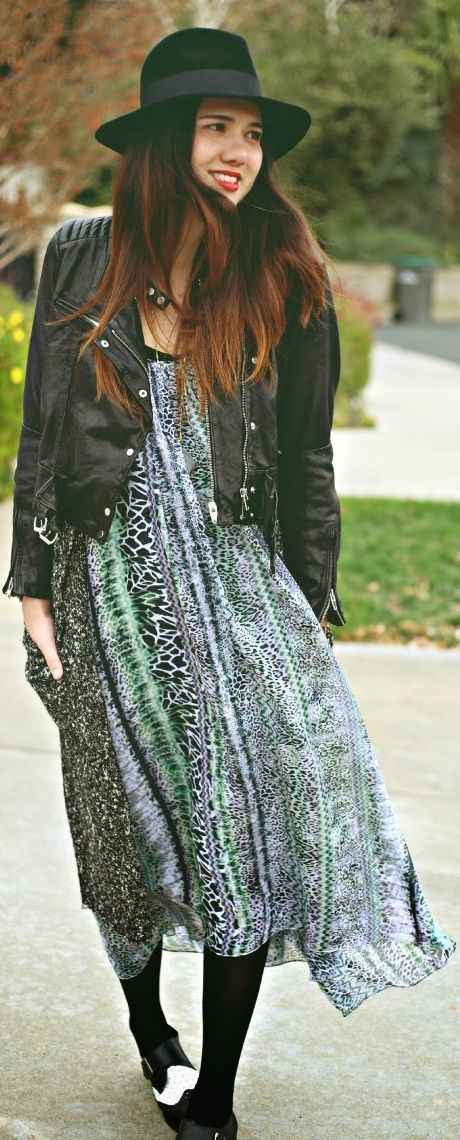 Bringing a maxi dress into winter