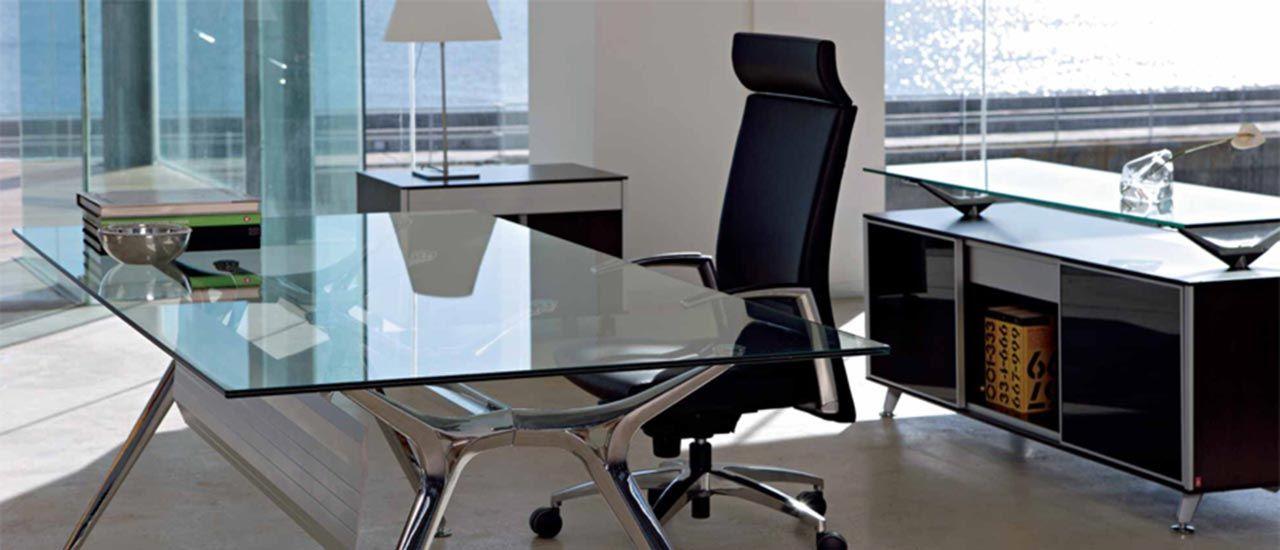 Mesas blancas para oficinas modernas offices office for Mesas de despacho modernas