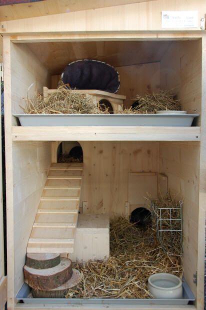 Wunderschöne Schutzhütte für eine Böckchengruppe von