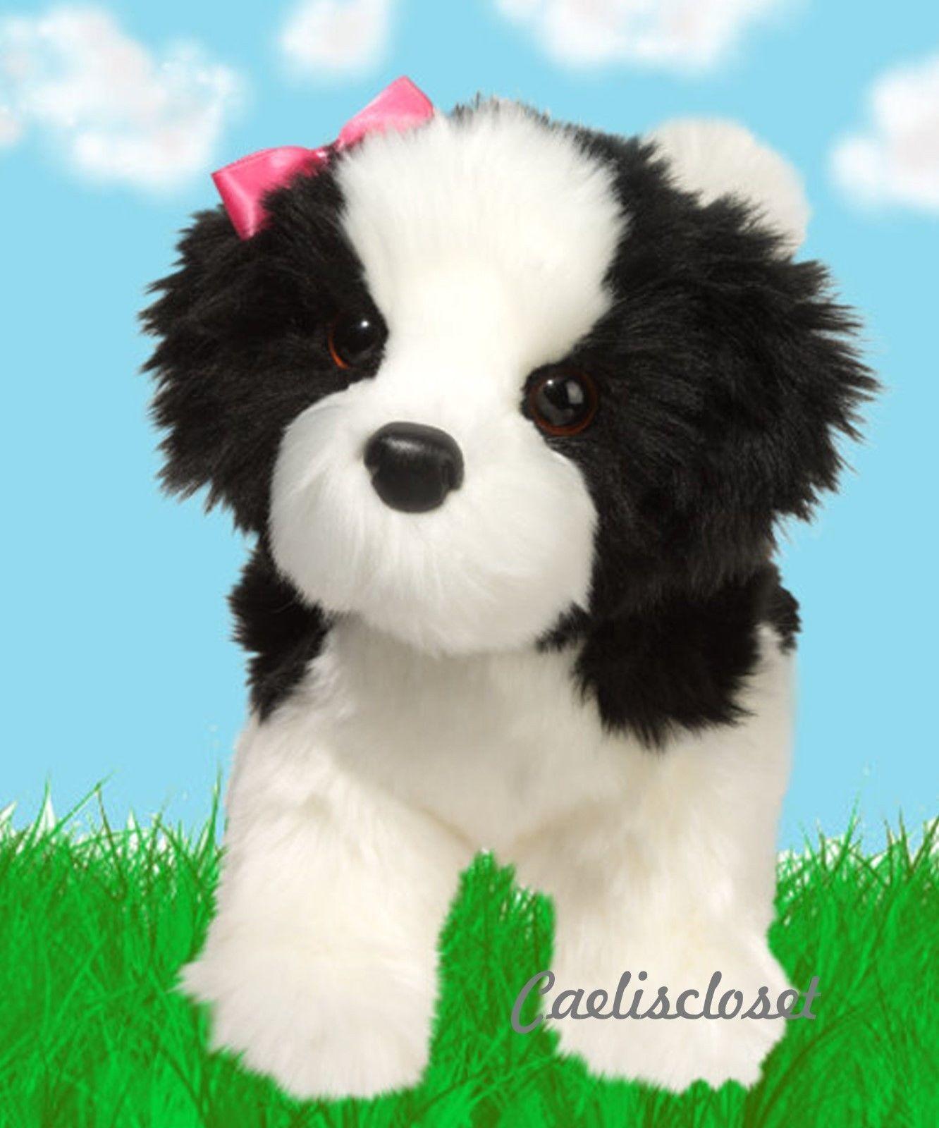 Douglas Poofy Black White Shih Tzu 10 Plush Stuffed Animal Puppy