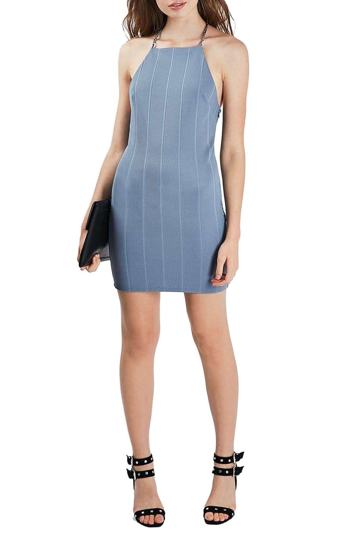 Chain Strap Bandage Body-Con Dress