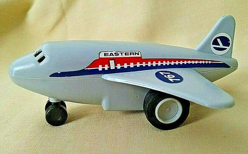 EASTERN AIRLINES AIRPLANE PLANE FRICTION TOY MINI 767 MADE
