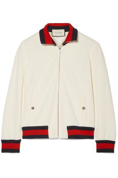 afb74aadf6e GUCCI Twill bomber jacket. #gucci #cloth # | Gucci | Jackets ...