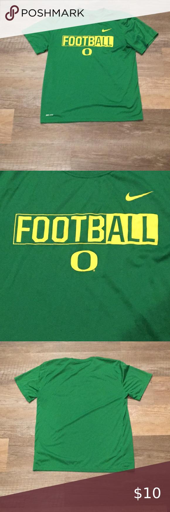 Oregon Ducks Football Nike Dri Fit Shirt Large Workout Shirts Dri Fit Shirt Oregon Ducks [ 1740 x 580 Pixel ]