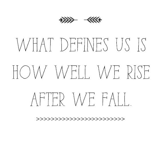 Rising After You Fall Simplified Bee Words Quotes Inspirational Words Quotes To Live By