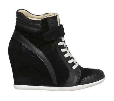 Basket compensée cuir   Boot shoes women, Hot shoes, Pretty