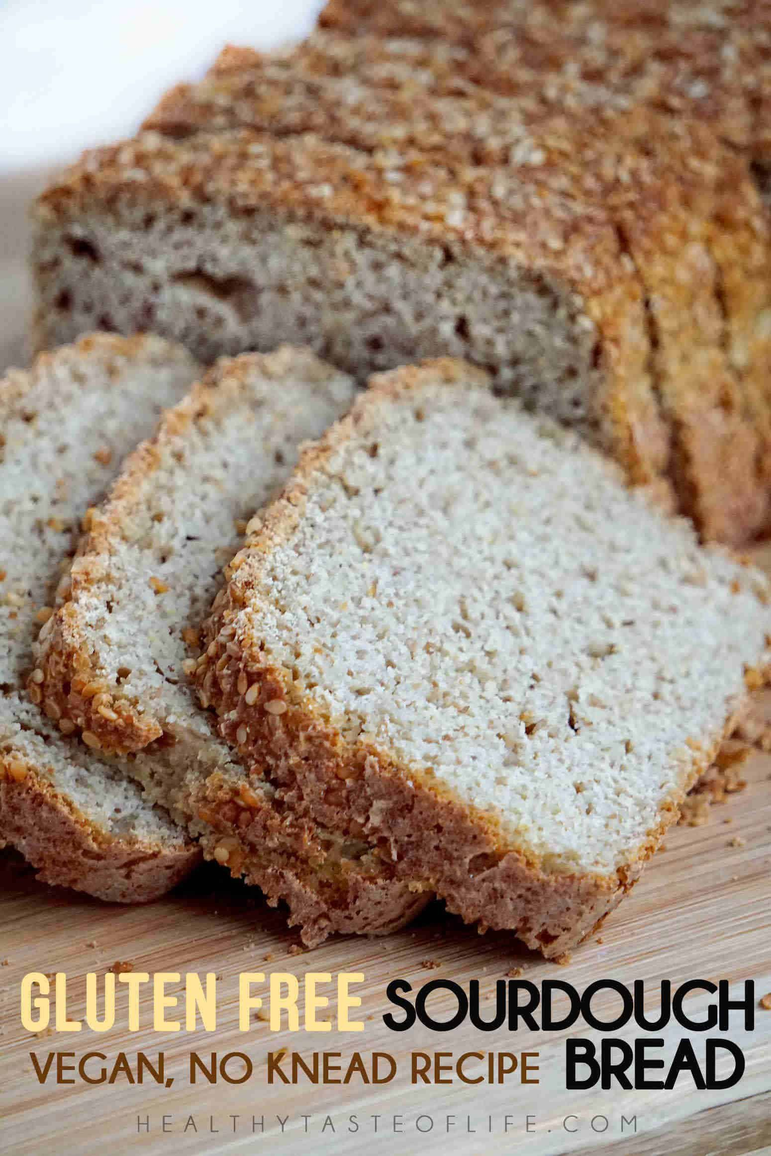 This Gluten Free Bread Has The Right Texture There Is No Xanthan Gum No Yeast And No Empty Starches Vegan A Healthy Gluten Free Bread In 2020 Gluten Free Sourdough