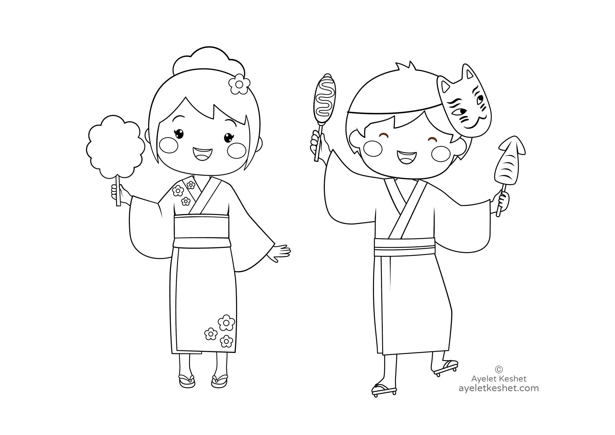 Free Coloring Pages About Japan For Kids