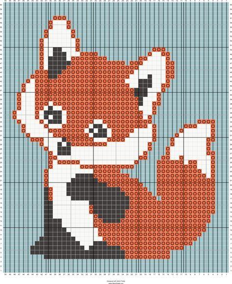 Fox C2c Baby Blanket Designed By Suzy Walkling Stitch Fiddle