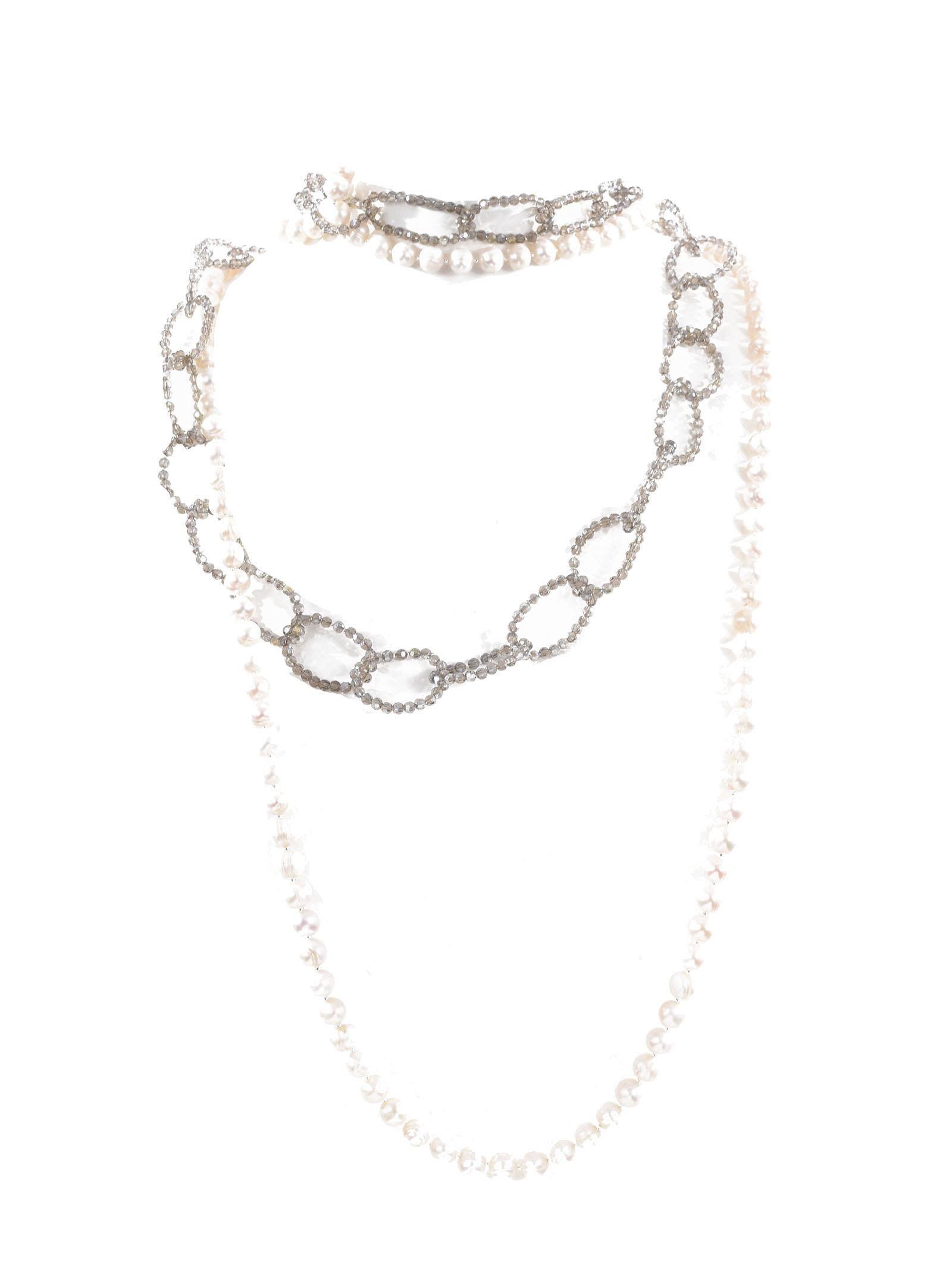 beaded chain necklace - White Night Market ZsnIRS