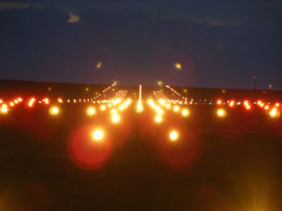 Runway At Night Beyond The Sea Aviation Wall Graphics