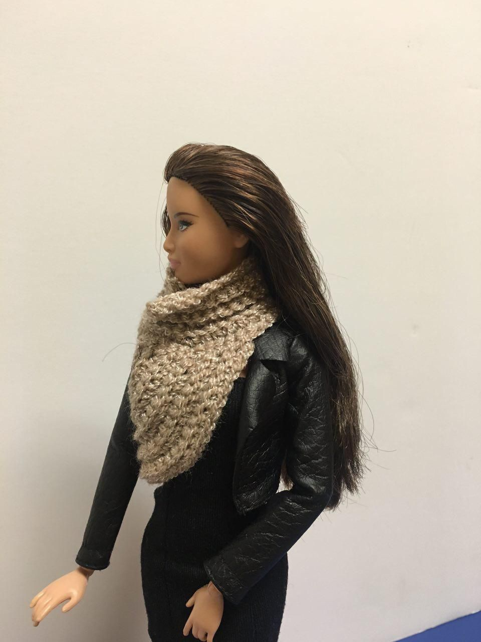 Crochet Hunger Games Inspired Katniss Cowl Vest for FR, Barbie and Similar 12 inch Dolls  https://www.etsy.com/shop/Fancydolldesign?ref=hdr_shop_menu