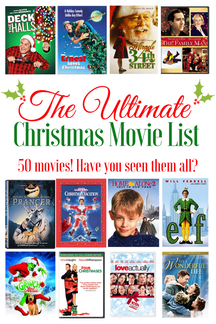 Ultimate Christmas Movie List The Latina Next Door Christmas Movies Christmas Movies List Ultimate Christmas