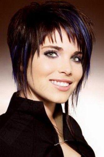Photo coupe de cheveux court avec frange