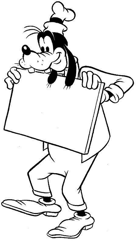 Coloring Page Goofy Goofy Disney Dibujos Dibujos Para