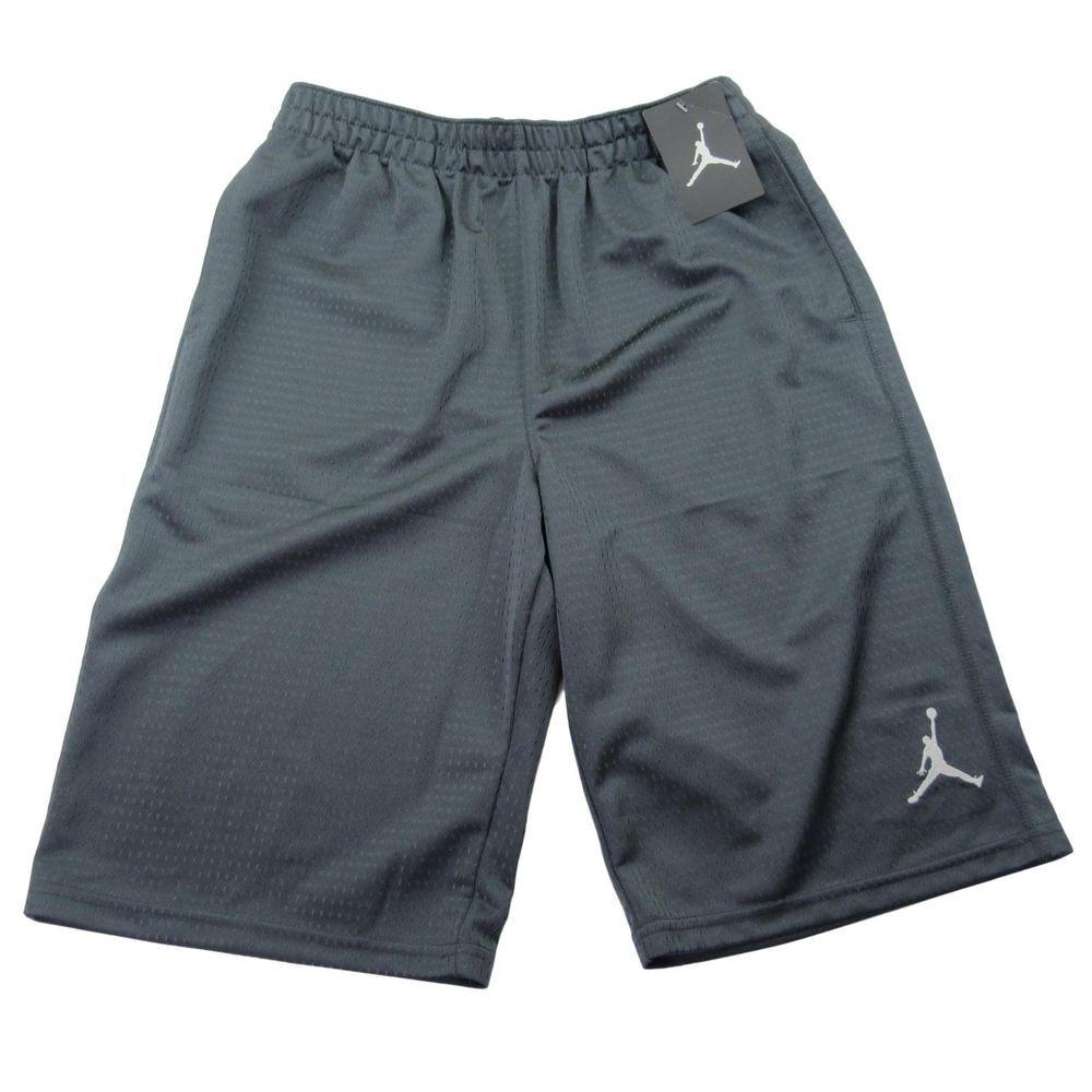 538d0d624ca2ce Jordan Basketball Shorts Size Large Youth Boys Dark Gray Jumpman Logo New   jordan  Everyday