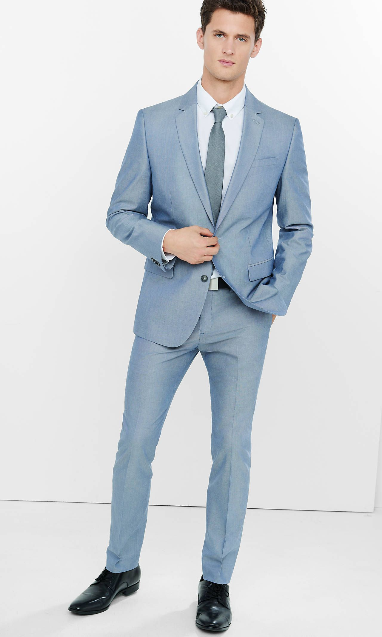 Skinny Innovator Oxford Blue Suit from EXPRESS | Clothes S/S 2016 ...