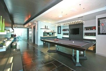 NEW YORKER Pool Table   Contemporary   Media Room   Miami   Mitchell *  Exclusive Billiard