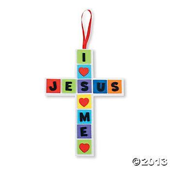"""I Love Jesus, Jesus Loves Me"""" Cross Craft Kit in 2018   Summer ..."""