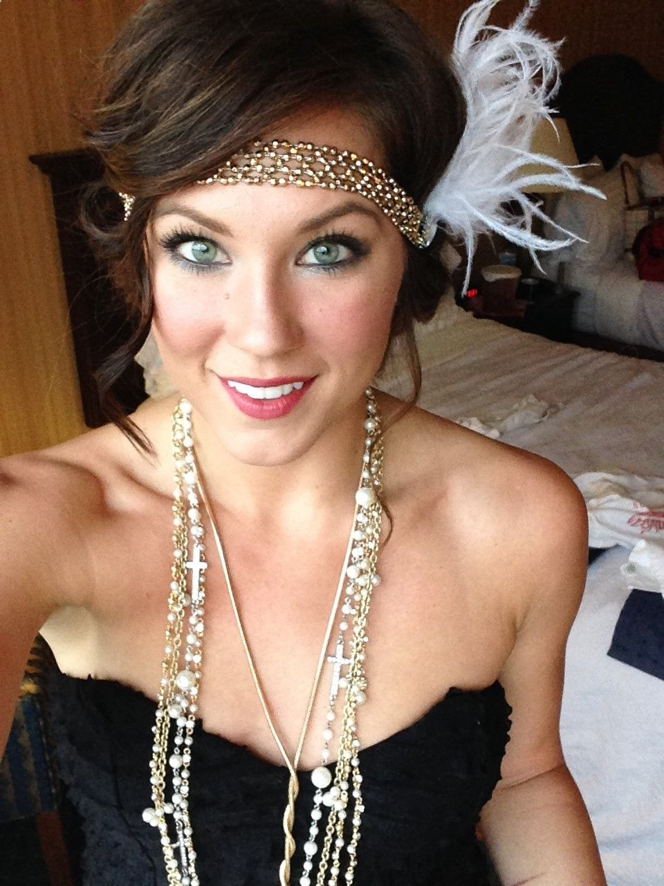 Gatsby Style Ive Always Wanted To Do Something Like This Party Hairstyles For Long Hair Gatsby Hair Gatsby Party Outfit