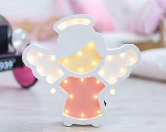 Babyzimmer Nightlight ~ Angel nightlight nursery night light baby light fixture wooden