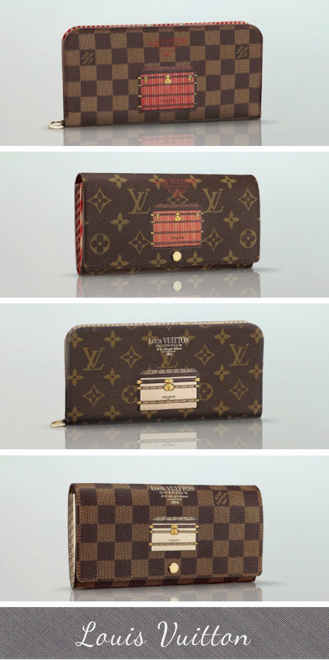 Louis Vuitton Illustre collection, damier illustration collection, monogram illustration collection, trunks and locks
