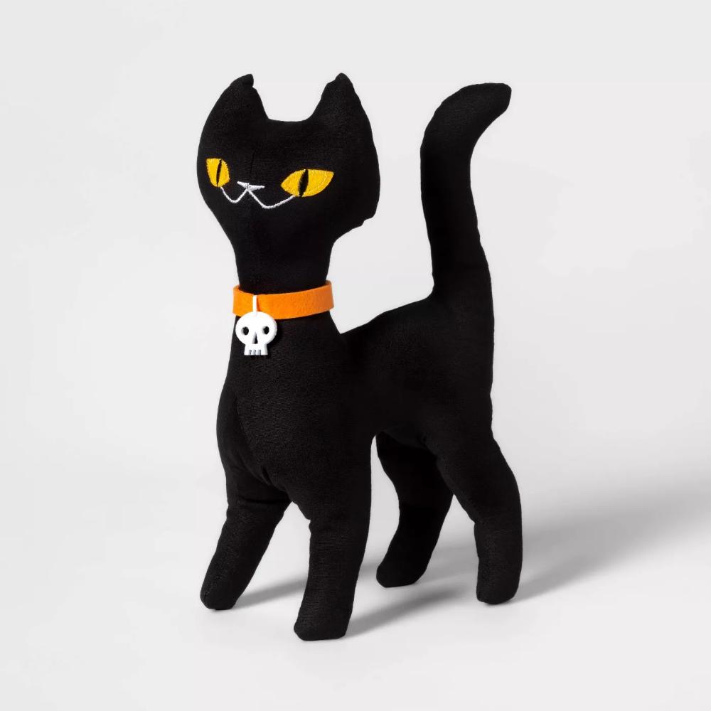 Standing Black Cat Halloween Fabric Figure Hyde & EEK