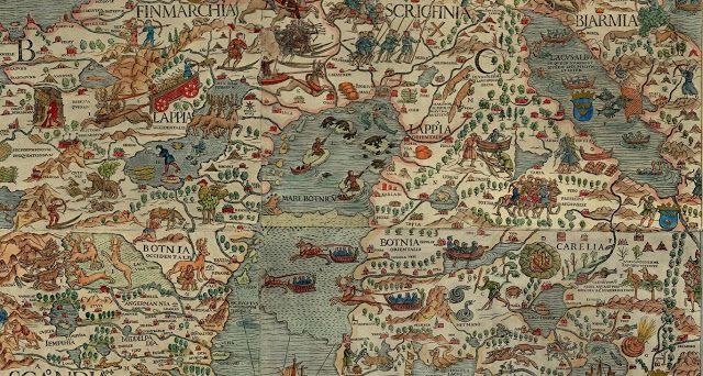 Carta Marina by Olaus Magnus (16th c) ~ Blog of an Art Admirer