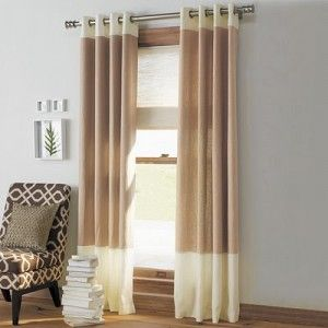 Grommet Style Two Tone Curtains For Living Room Curtains Living