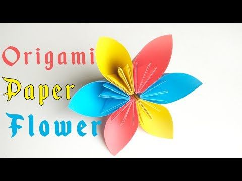 How to make paper flower tutorial easy origami flowers for how to make paper flower tutorial easy origami flowers for beginners making origami kusudama flower mightylinksfo Choice Image