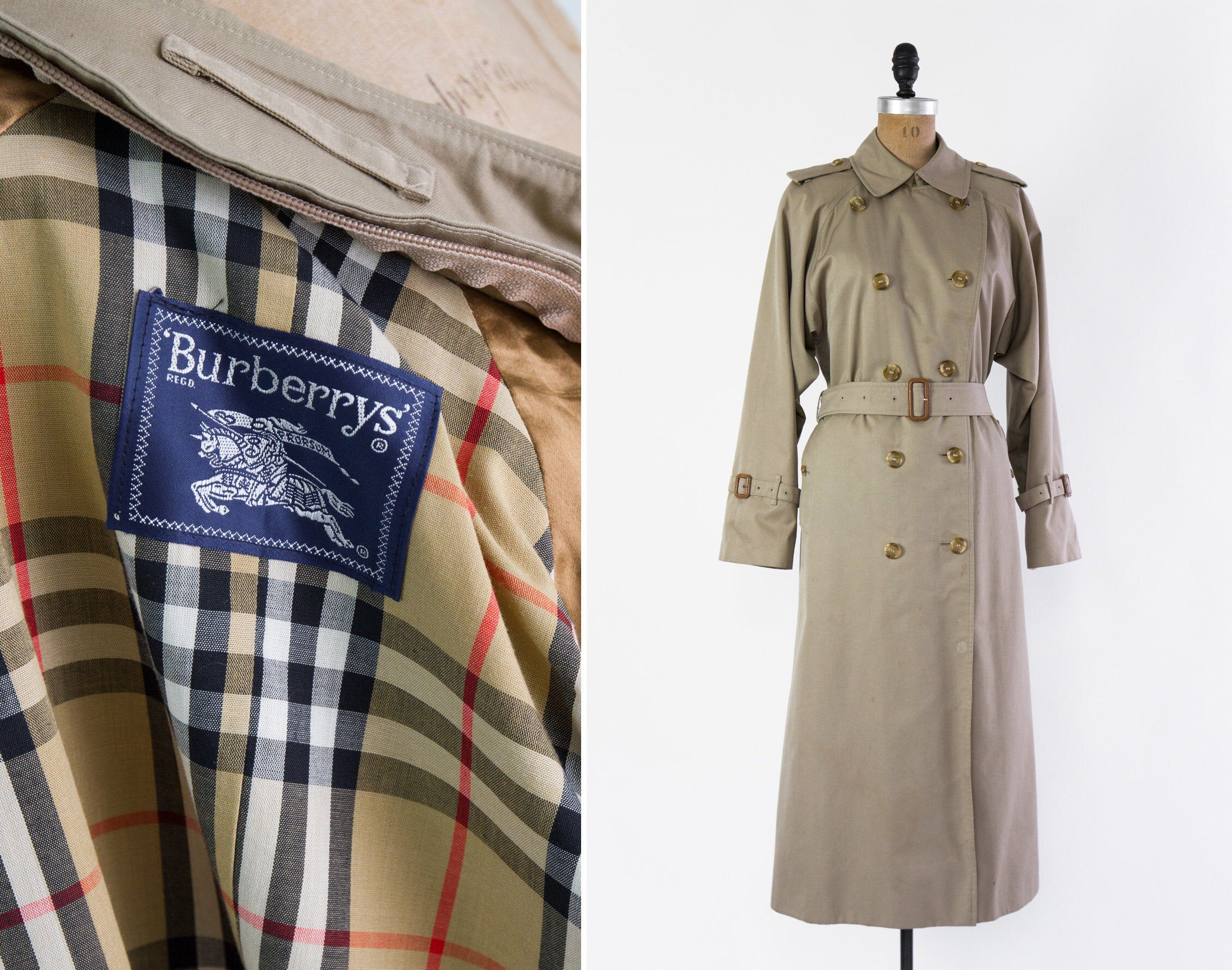 Vintage Burberry Trench Coat Burberry Trenchcoat Jacket Etsy Burberry Trench Coat Trench Coat Burberry Trench